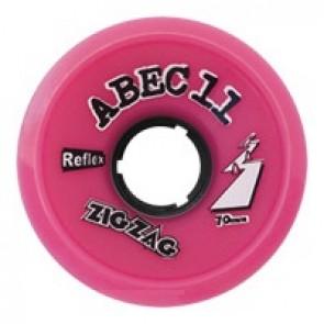 ABEC 11 ZigZags 70mm 77a Pink longboard wielen