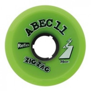 ABEC 11 ZigZags 70mm 80a Lime longboard wielen