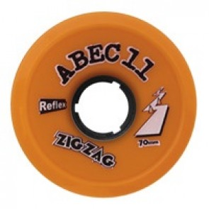 ABEC 11 ZigZags 70mm 86a Orange longboard wielen
