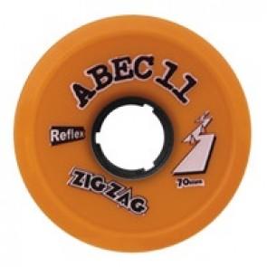 ABEC 11 ZigZags 70mm 86a Orange longboard wielen