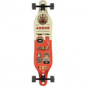 "Arbor Axis Artist-Schommer 40"" drop-through longboard complete"