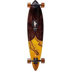 "Arbor Fish Groundswell Map 37"" pintail longboard complete"