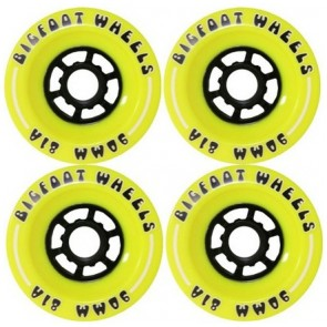 Bigfoot Cored Yellow 90mm Longboard Wielen (81a)