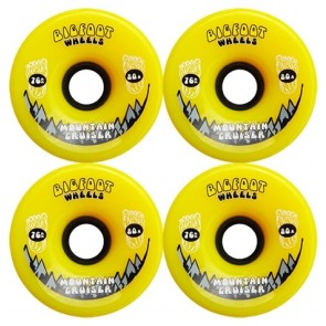 Bigfoot Mountain Cruisers Yellow 76mm Longboard Wielen (80a)