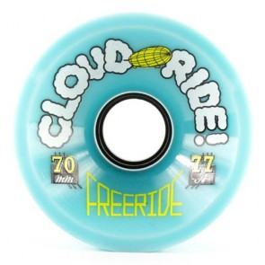 Cloud Ride Freeride 70mm 77a Light Blue longboard wielen