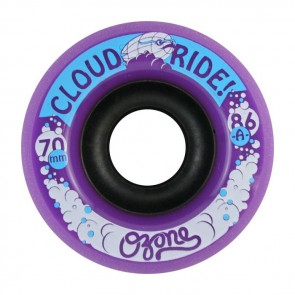 Cloud Ride Ozone 70mm 86a Purple longboard wielen