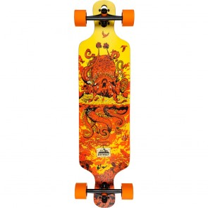 "D-Street Underwater Beached 39"" Drop-Through longboard complete"