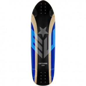 "Earthwing Hoopty Black-Blue 34"" longboard deck"