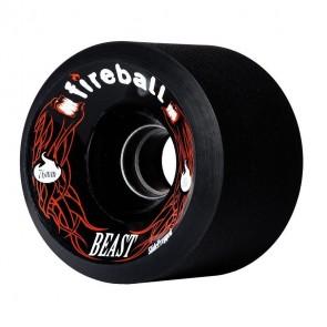 Fireball Beast Black 76mm 87a longboard wielen