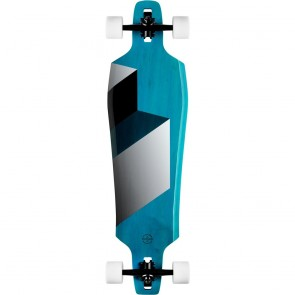 "Goldcoast Matrix Blue 38"" drop-through longboard complete"
