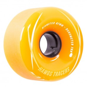 Hawgs Tracers Orange 67mm 78a longboard wielen