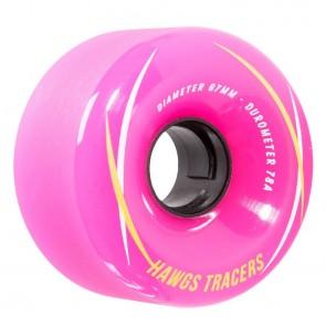 Hawgs Tracers Pink 67mm 78a longboard wielen