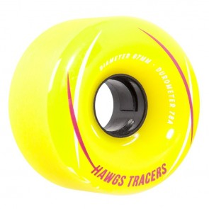Hawgs Tracers Yellow 67mm 78a longboard wielen