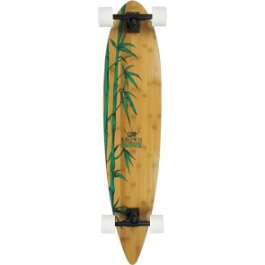 """Krown Exotics Nature Bamboo 43"""" pintail longboard complete"""