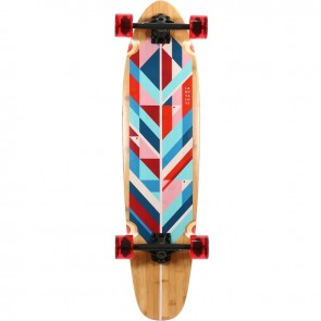 "Landyachtz Bamboo Ripper Geo Feather 37"" longboard complete"