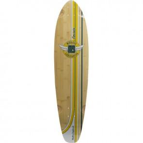 "Mindless Corsair Yellow-Green 38.25"" kicktail longboard deck"