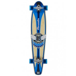 "Mindless Marauder II Blue 42.5"" kicktail longboard complete"