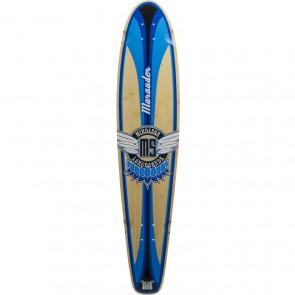 """Mindless Marauder II Blue 42.5"""" kicktail longboard Deck"""