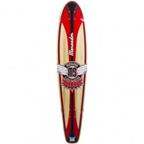 "Mindless Marauder II Red 42.5"" kicktail longboard Deck"