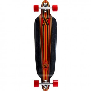 "Mindless Savage III Black-Red 39.75"" drop-through longboard complete"