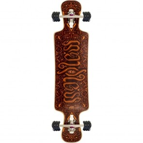 "Mindless Voodoo Nyoka Shark! 40"" drop-through longboard complete"