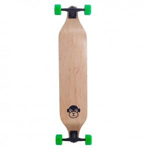 "Moose Monkey Drop Down Green 40"" longboard complete"