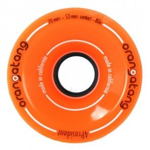 Orangatang 4President 70mm 80a Orange longboard wielen