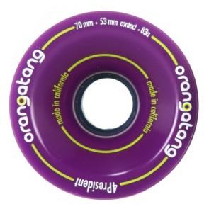 Orangatang 4President 70mm 83a Purple longboard wielen