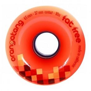 Orangatang Fat Free 65mm 80a Orange longboard wielen