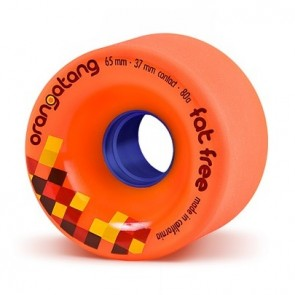 Orangatang Fat Free 65mm 80a Orange longboard wielen