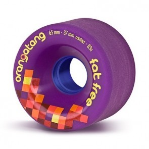 Orangatang Fat Free 65mm 83a Purple longboard wielen