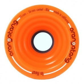 Orangatang In Heat 75mm 80a Orange longboard wielen