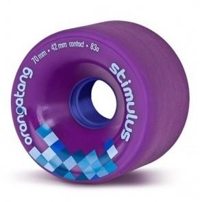 Orangatang Stimulus 70mm 83a Purple longboard wielen