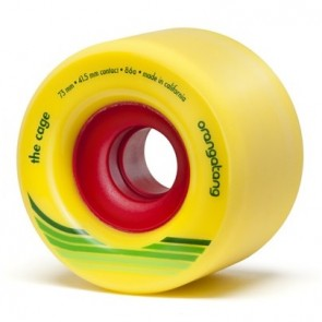 Orangatang The Cage 73mm 86a Yellow longboard wielen