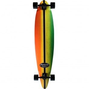 "Paradise Rasta Stain 46"" pintail longboard complete"