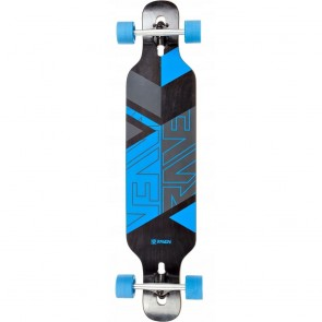 "Raven Geo Blue 41"" drop-through longboard complete"