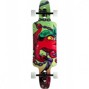 "Restless Splinter Red Octopus 35"" longboard complete"