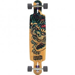 "Riviera Kung Fu Kitty 41.5"" drop-through longboard complete"